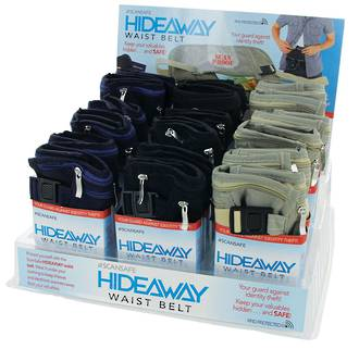 Scansafe Hideaway Waist Belt Display - 18pcs