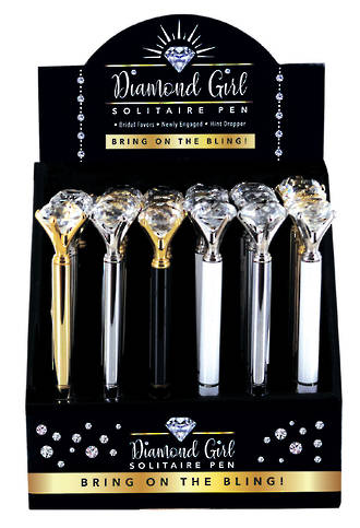 Diamond Girl Pen Display - 24pcs