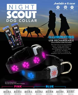 Night Scout Dog Collar Pack - 24pcs
