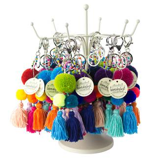 Omos PomPom Keychain Display - 24pcs