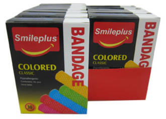 Smileplus Plasters Coloured Display - 24pcs