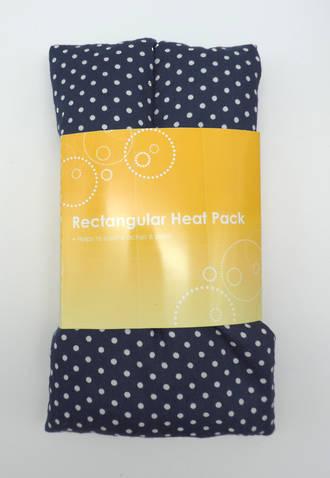 Rectangle Heat Pack - Navy Polka Dot
