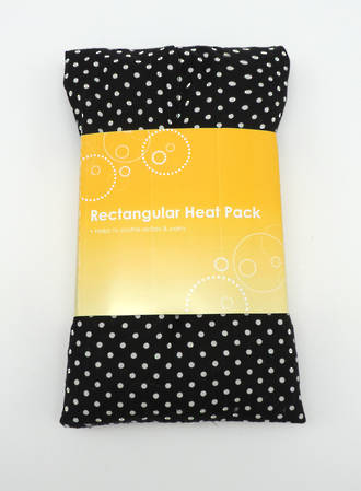 Rectangle Heat Pack - Black Polka Dot