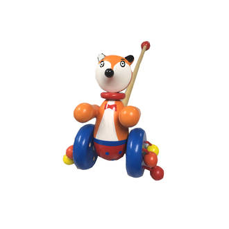 Wooden Push Along Toy - Fox
