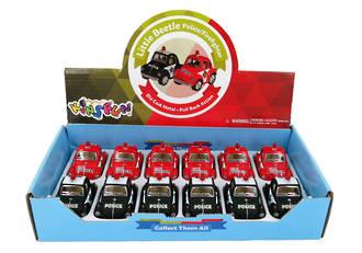 Little Beetle Police/Fire Car Display - 12pcs