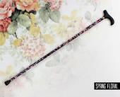 Folding Walking Stick - Spring Floral