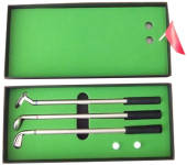 Golf Clubs Pen Set With Green