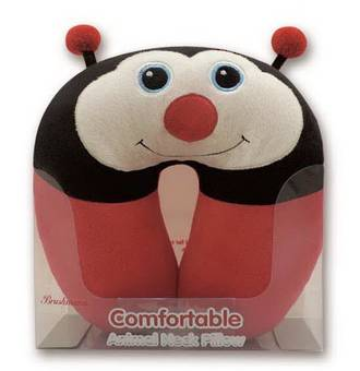 Ladybug Design Neck Pillow