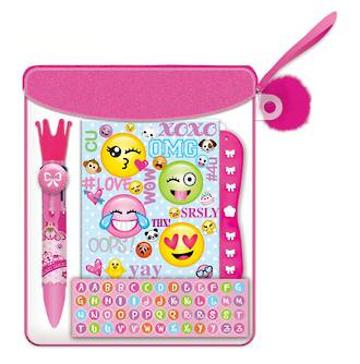 Emoji Mini Secret Journal with Lock