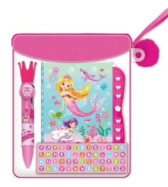 Mermaid Mini Secret Journal with Lock