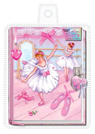 Ballerina Diary with Lock & Keys