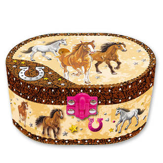 Horse Musical Jewelry Box with Figurine