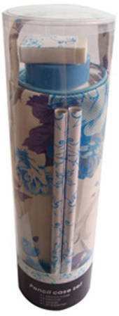 Pencil Case Set - Blue Floral