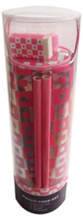 Pencil Case Set - Pink Retro
