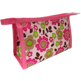 Cosmetic Purse - Pink Flowers