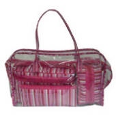 Cosmetic Bags Set 4 - Pink Stripes