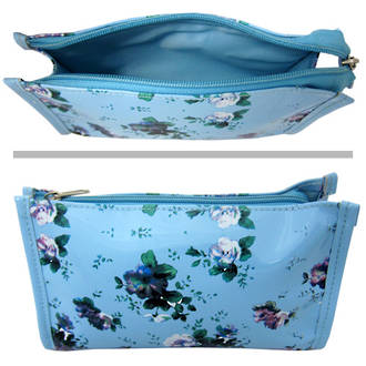 Cosmetic Purse Blue Floral