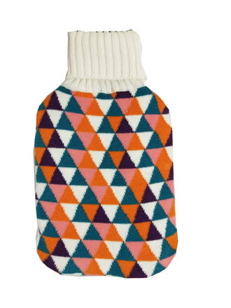 Knit Hot Water Bottle Cover - Triangle