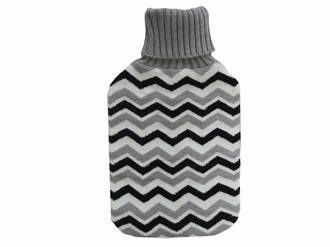 Knit Hot Water Bottle Cover - Stripes