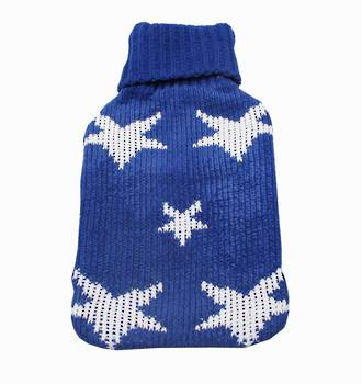 Chenille Knit Hot Water Bottle Cover - Star
