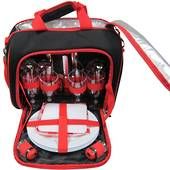 Picnic Bag 4 Person - Black/Red