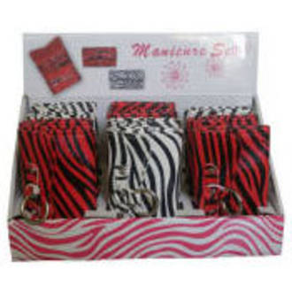 Zebra Red/White Manicure Set