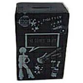 Ceramic Money Box Black - Night Out Fund