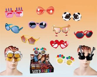 Party Sunglasses Display - 24pcs