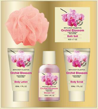 Orchid Blossom Bath Gift Set