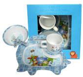 Childrens 5 Piece Melamine Feeding Set Blue
