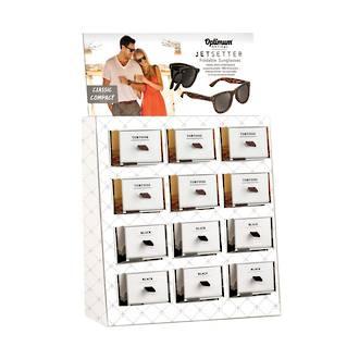 Jetsetter Foldable Sunglasses Display - 12pcs