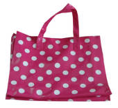 Shopping Bag - Pink/White Polka Dot