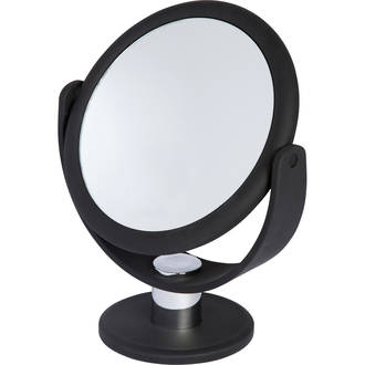 Soft Touch Vanity Mirror Black
