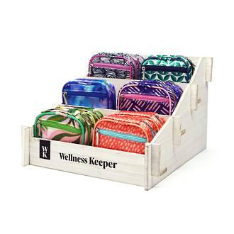Wellness Keeper Women's Pill & Vitamin Clutch Display - 24pcs