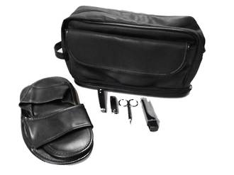 Men's 5 pce Manicure Set/Toilet Bag