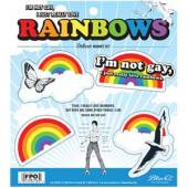 I'm Not Gay, I Just Really Love Rainbows Magnet Set