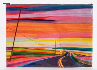 Jumbo Zipper Pouch - Sunset Highway