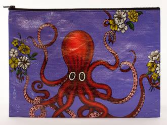 Jumbo Zipper Pouch - Octopus