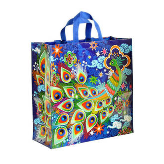 Blue Q Shopper - Peacock