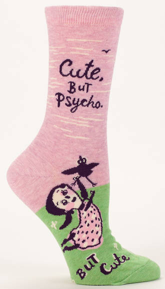 Blue Q Socks - Cute, But Psycho