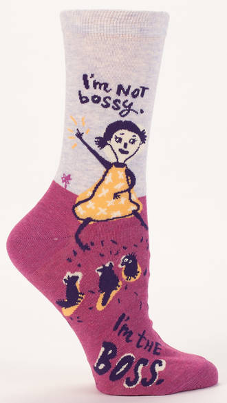 Blue Q Socks -  I'm Not Bossy