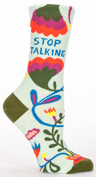 Blue Q Socks - Stop Talking