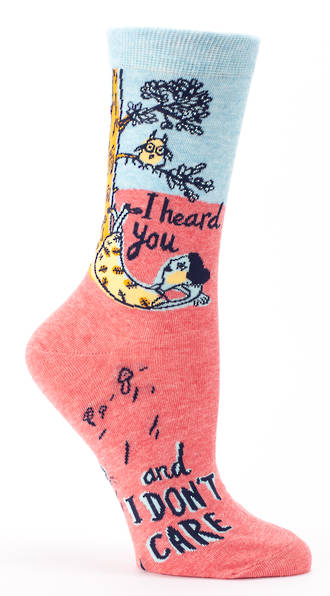 Blue Q Socks - I Heard You & I Don't Care