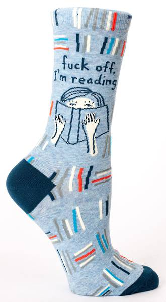 Blue Q Socks - Fuck Off, I'm Reading