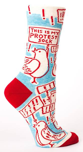 Blue Q Socks - This Is My Protest Sock