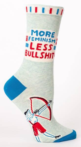 Blue Q Socks - More Feminism Less Bullshit