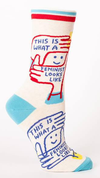 Blue Q Socks - This Is What A Feminist Looks Like