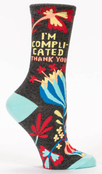 Blue Q Socks - I'm Complicated. Thank You.