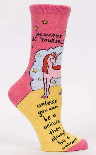 Blue Q Socks - Always Be A Unicorn