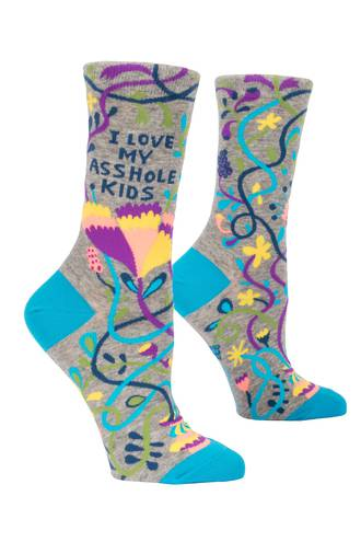 Blue Q Socks - Love My Asshole Kids